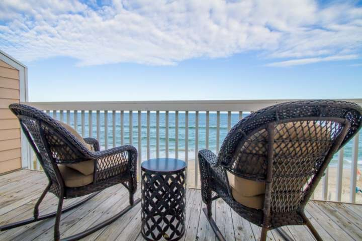 Watch the sunrise, read a book, or sip your morning coffee here on the private master balcony