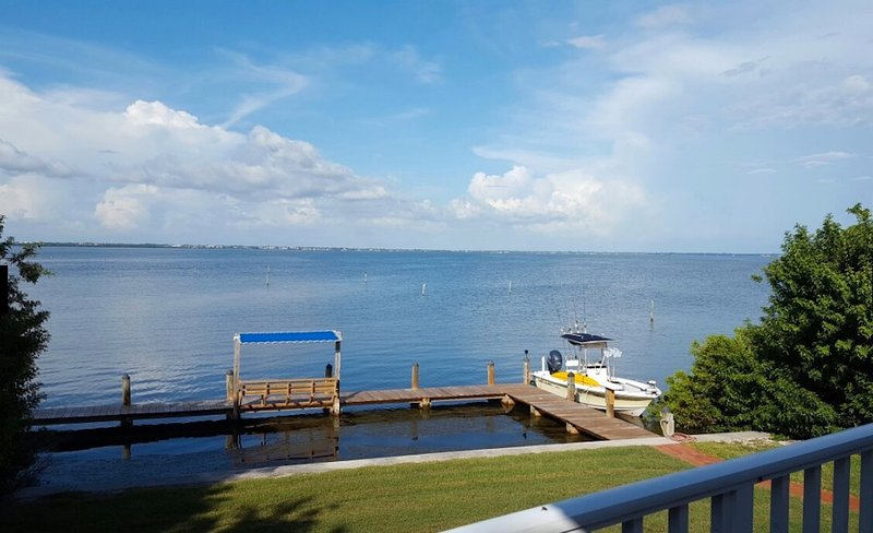 dock on the bay for fishing, sun rises and for docking your boat.