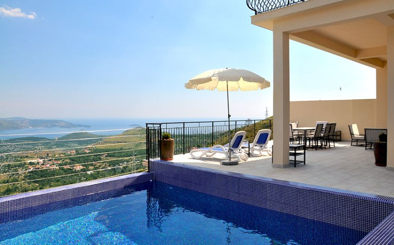 Luxury Villa Rock with extensive terrace, private pool and incredible view to the Dubrovnik Riviera