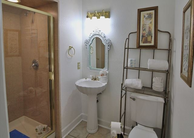 Bathroom in Hall off Living Area