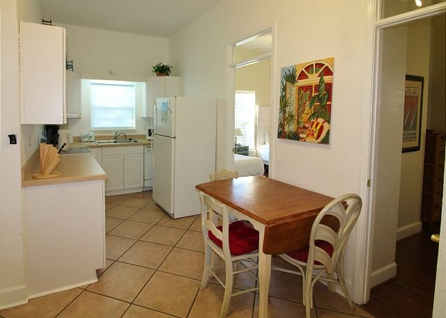 Kitchen and Dining Area in Apartment