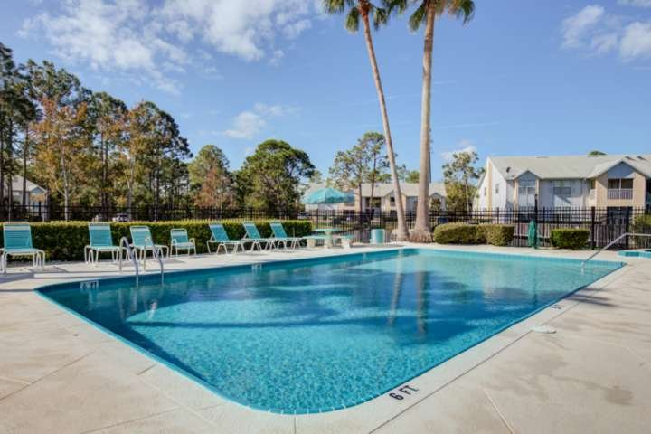 Quiet, mainland condo complex provides many amenities including a heated pool and spa.