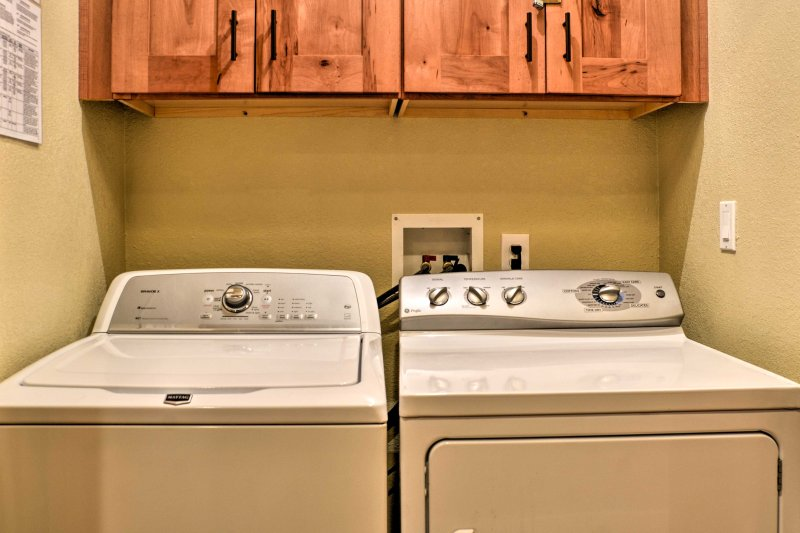 Keep your entire wardrobe fresh with the in-unit laundry machines!