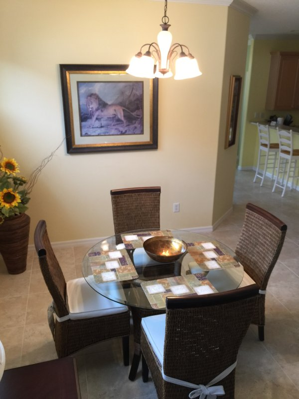 Dining Area off of Kitchen and Living Area.