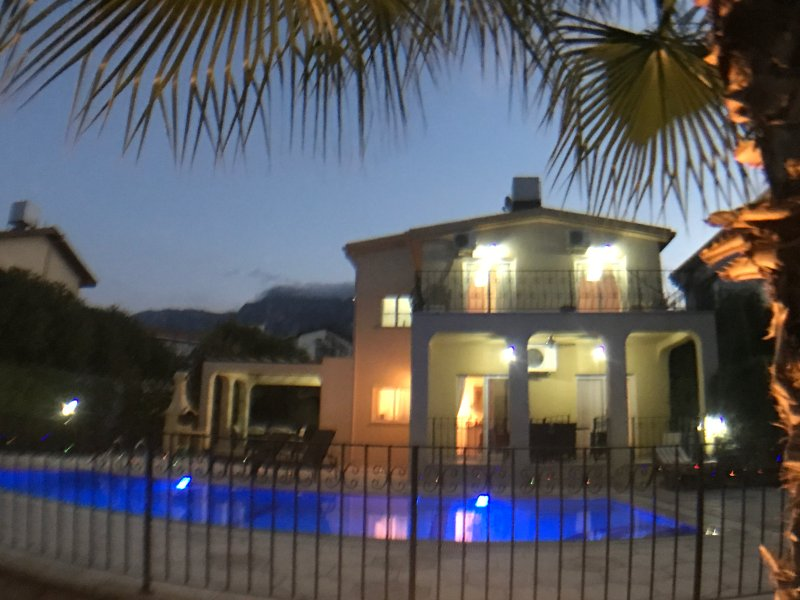 Luxury Villa with Large Private Pool and Sea Views, location de vacances à Edremit (Trimithi)