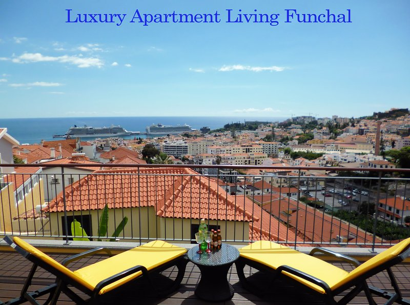 Pnthouse, Spacious balcony with one of the best views over the harbor and Funchal city.