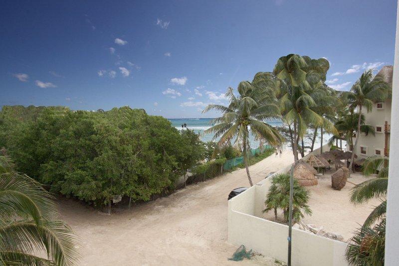 Ocean view from the condo entrance