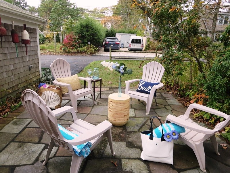 Outdoor patio - enjoy your favorite libation after a day at the beach!  23 Ginger Plum Lane Harwich Port Cape Cod - New England Vacation Rentals