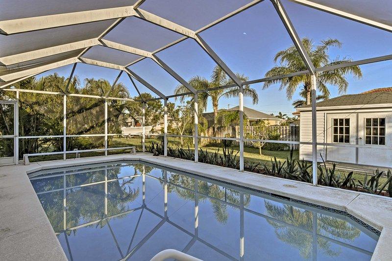 Descubra Cape Coral a partir desta espaçosa casa de férias com 3 quartos!