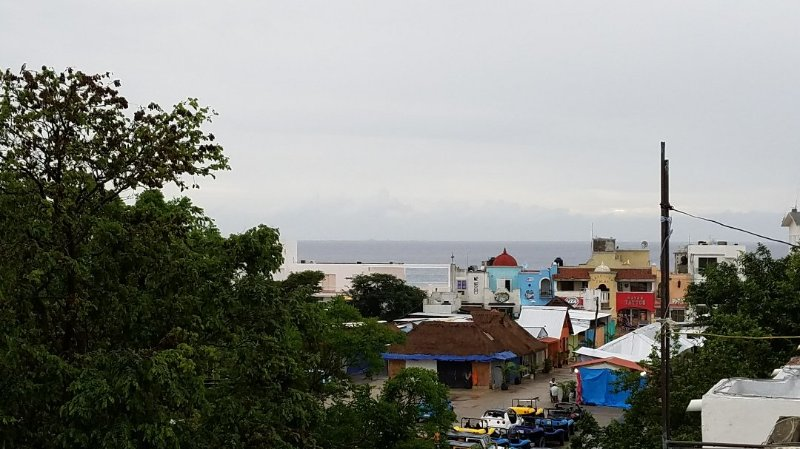 View of the Ocean from Apartment Rooftop