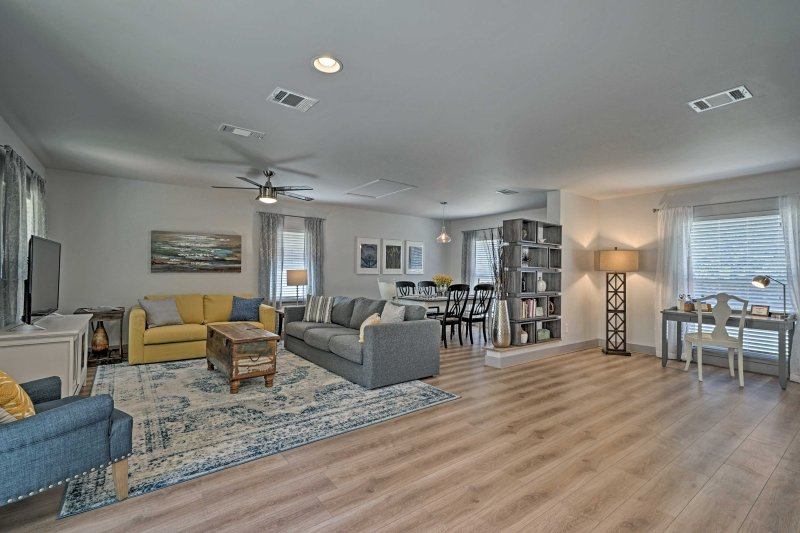 This chic home offers comfortable accommodations for 7 guests.