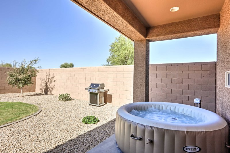 A desert retreat awaits you at this Queen Creek vacation rental house.