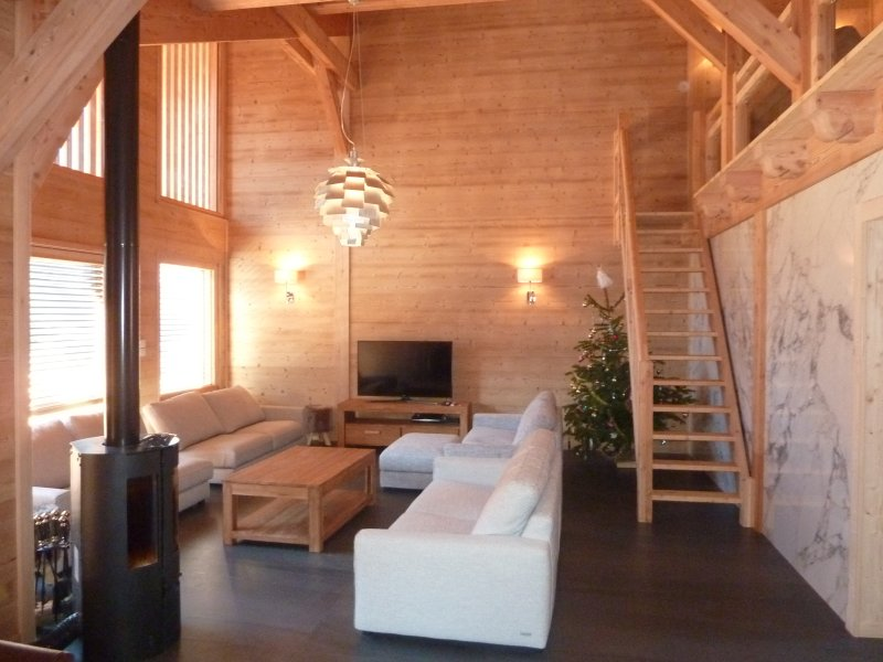 Spacious double height lounge area