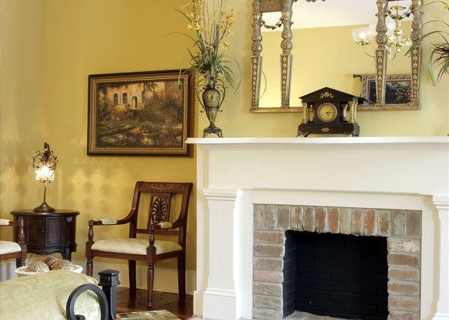 Elegantly designed Living Area at Historic Washington Square Hou