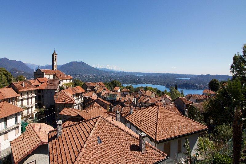View on Lake Maggiore, Lake Varese and Lake Monate