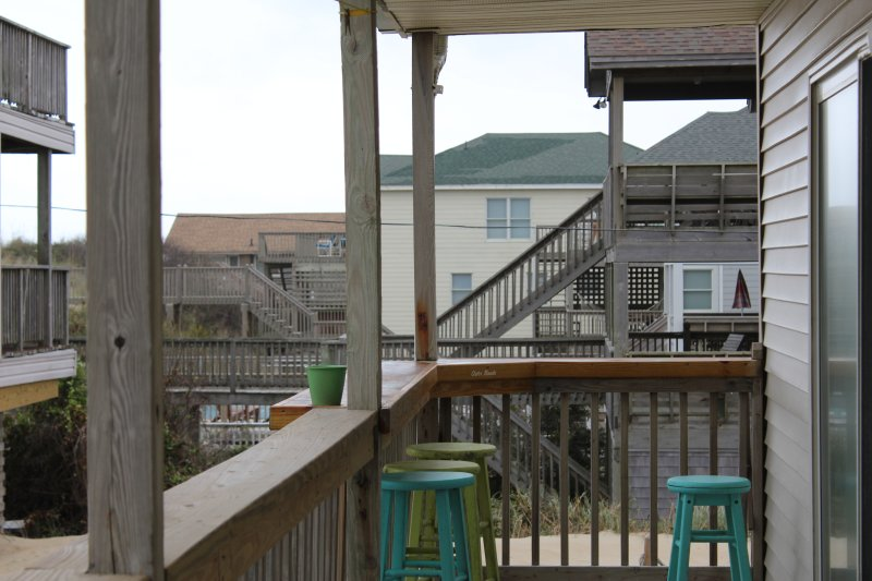 a part of covered porch area. Porch has great Views of ocean.