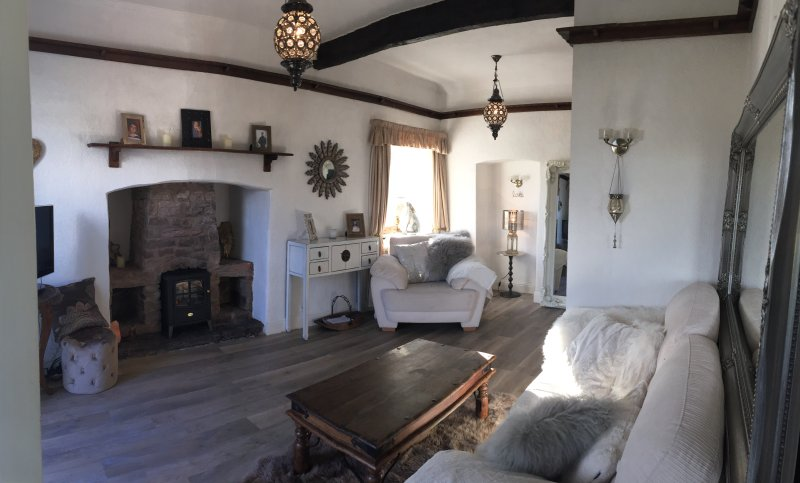 The cozy sitting room