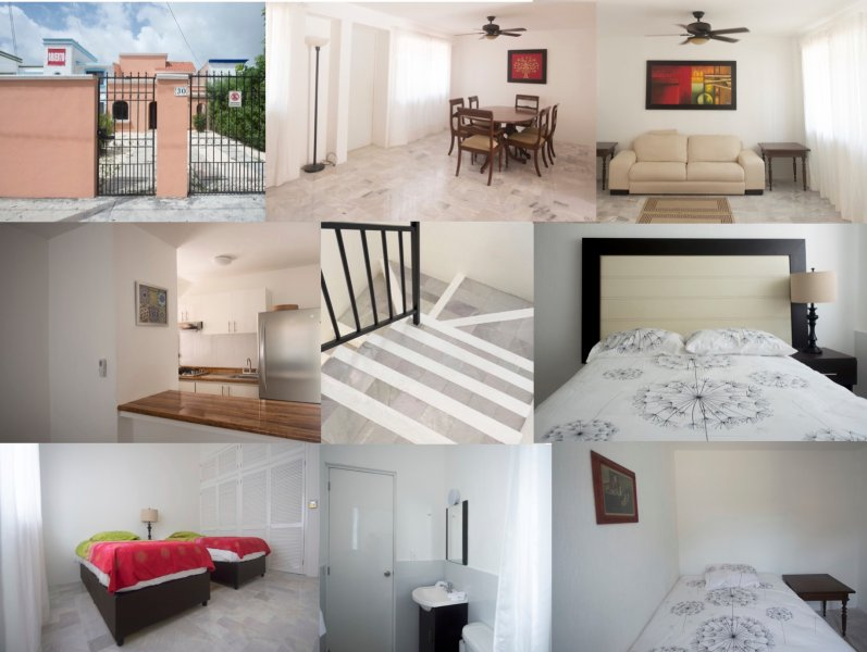 Entire house. Max.6 sleeps 4 people, WiFi, cable TV. Private parking.