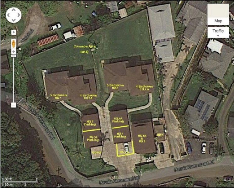 Satellite view of the homes in the estate.