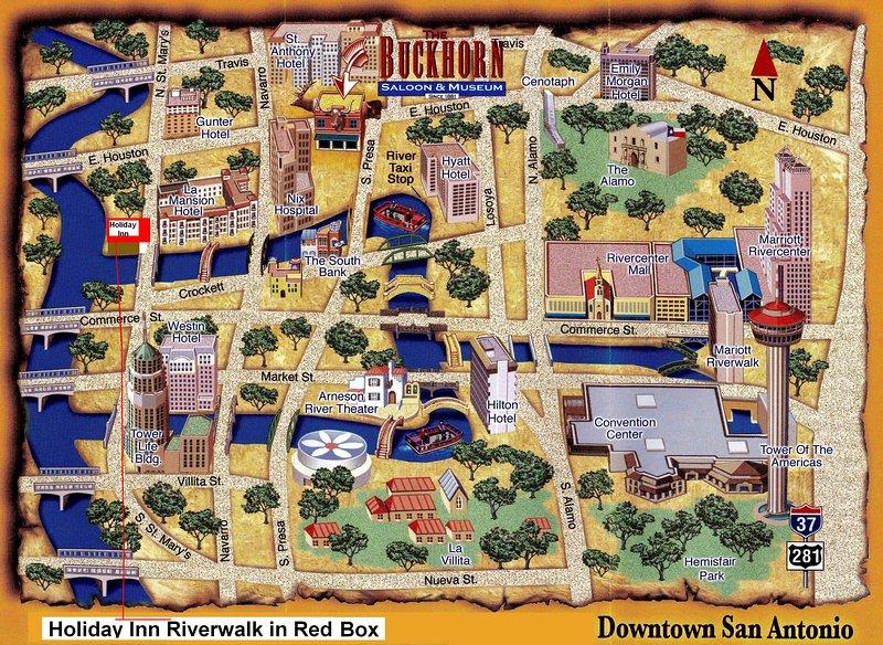 San Antonio Map of Events