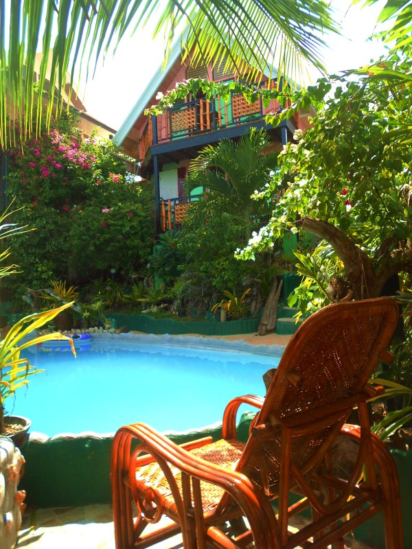 Oceanview villa set in beautiful tropical garden.