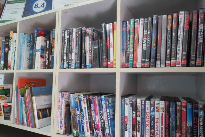 Books, DVD Library