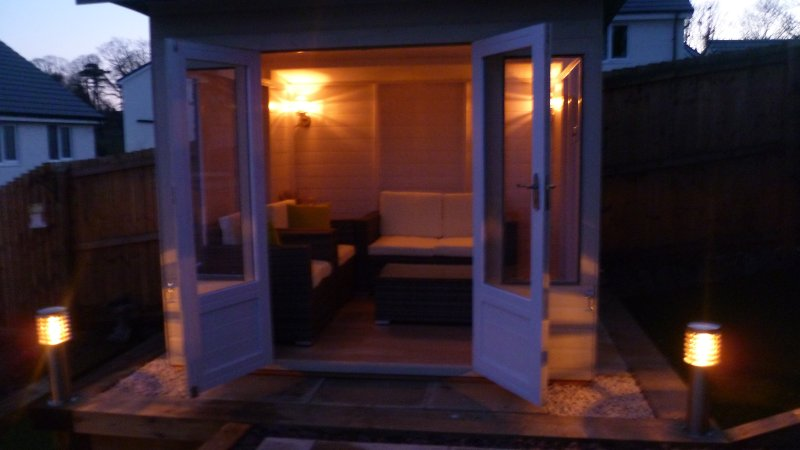 Summer house with lighting and power