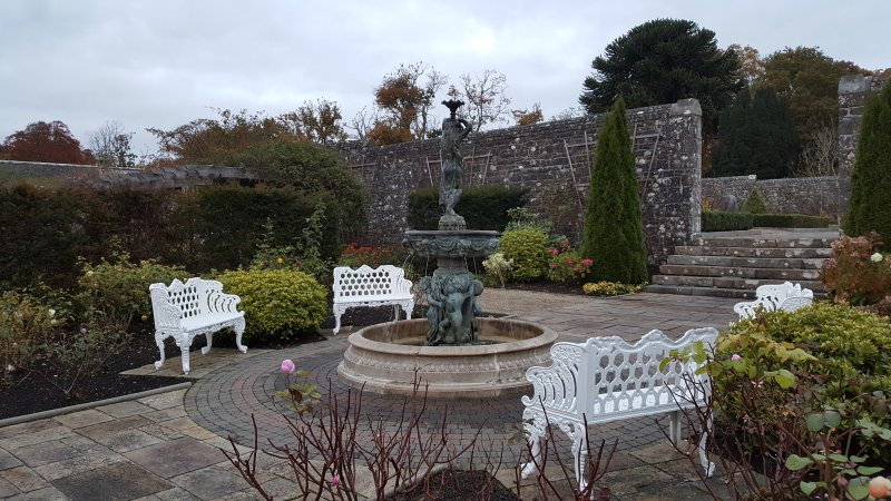 Beautiful ornamental gardens and lakeside walks in the grounds of Lough Rynn Castle Hotel.