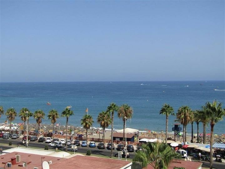 The beach is just across the street. View from our balcony.