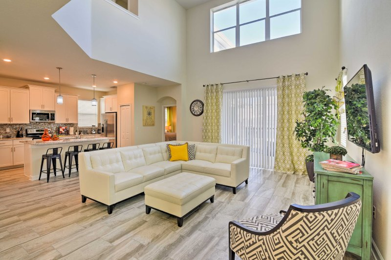 Find peace and privacy in the happiest place on earth when you stay at this vacation rental villa in ChampionsGate!