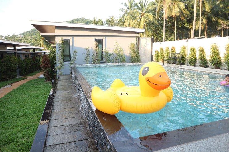 Compartilhando a piscina
