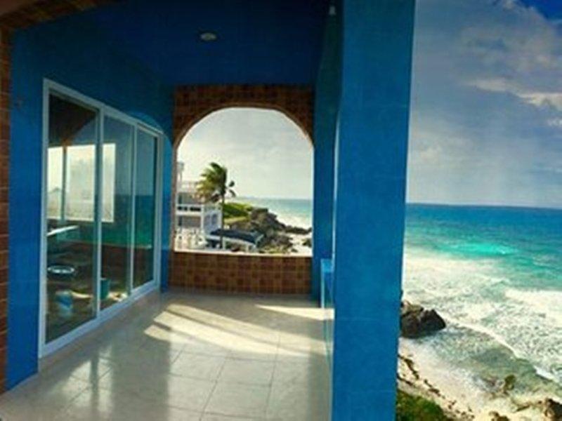 Amazin vistas de 360 grados de la isla, Caribe, luces de Cancún y la península Yukatan - WOW !!