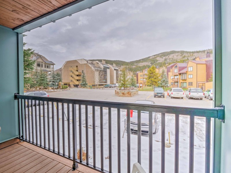 You'll be gifted to beautiful Copper mountain views from the private patio.