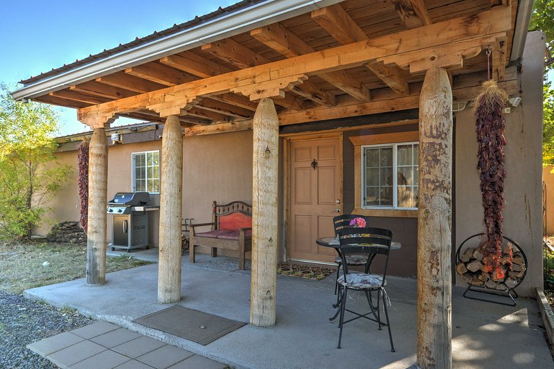 Escape to this rural 1-bed vacation rental casita on a 3-acre farm in Santa Fe!