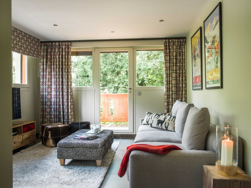 Chalet Belle Foret living room has a cosy TV zone