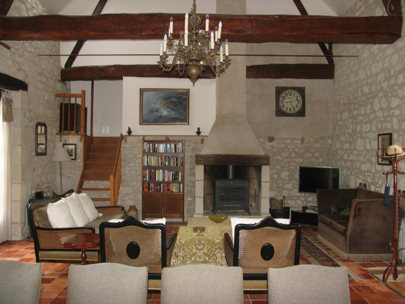 Th salon in your Loire Valley riverside holiday home Barrou