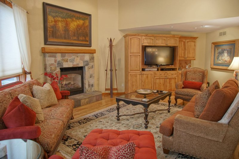 Gas Fireplace and HDTV in the living room