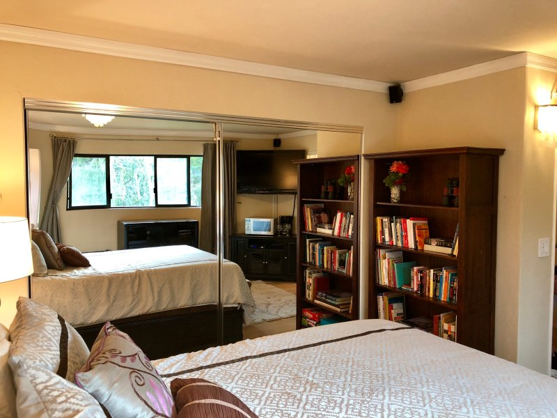 Bedroom 1 with bookcase
