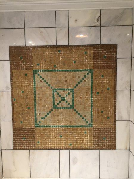 Mosaic badrum detalj