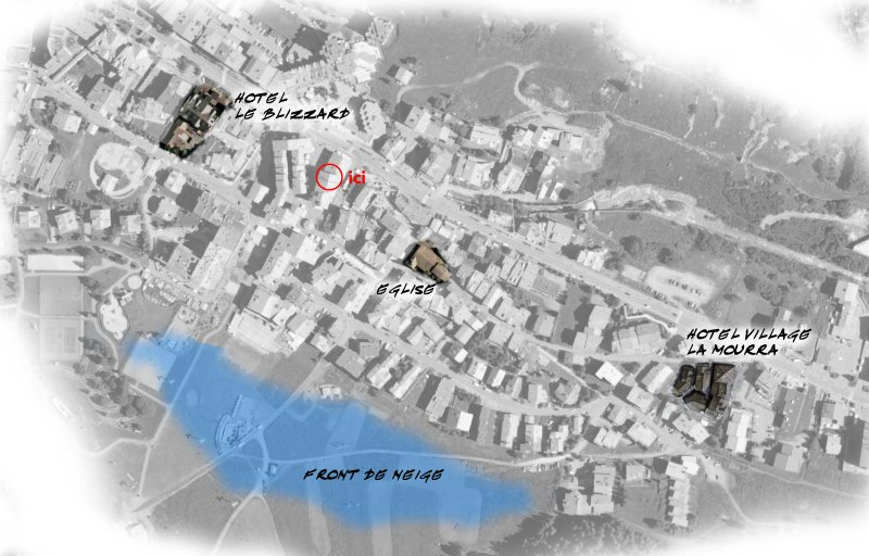 Exceptional situation 100M of the slopes, 10m of bakery, 50m of stores and city center !!