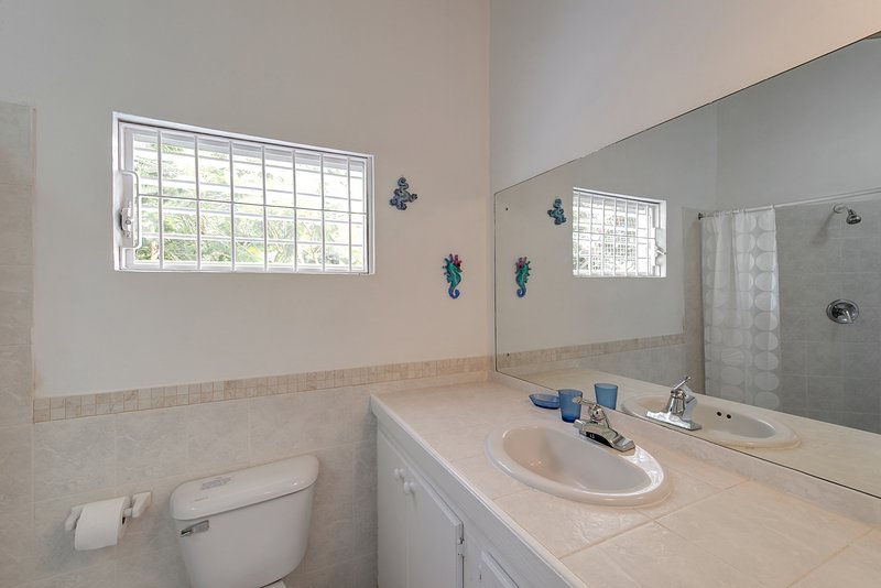 Spacious bathroom with walkin shower