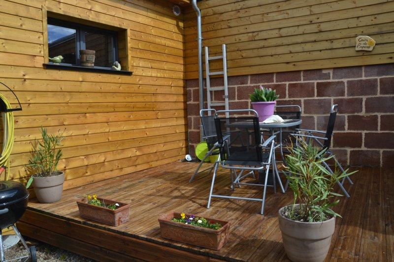terrasse réservée au gîte