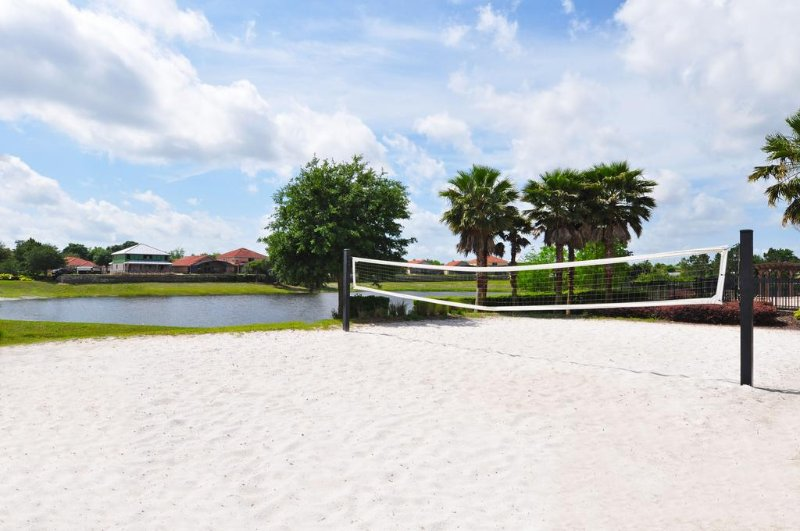 Sand volleyball with nice views