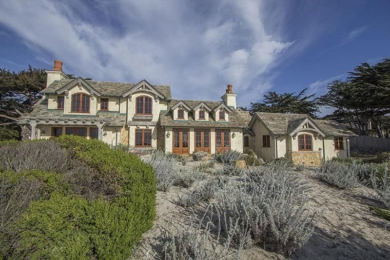 17 Mile Drive Ocean Front French-Style Masterpiece. Sunset Ocean Views
