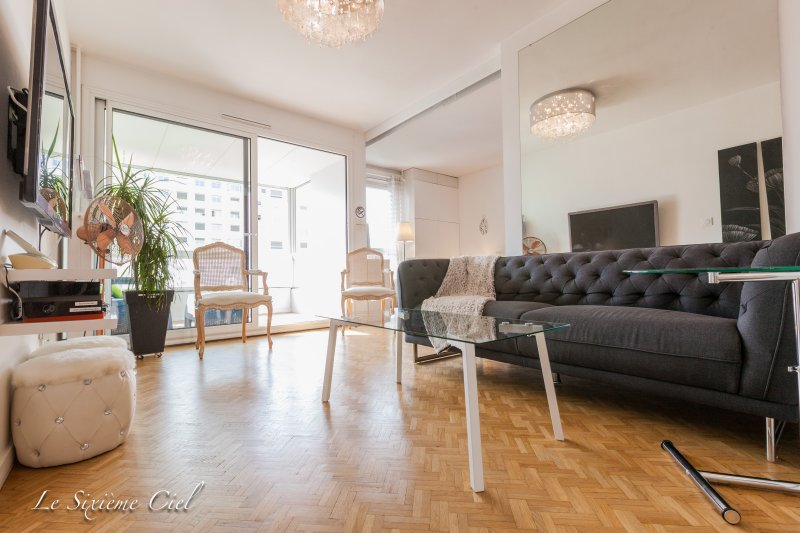 ★ The Sixième Ciel ★ 70 m² with balcony, Central LYON, 4 guests, Free Parking ❤️, holiday rental in Lyon