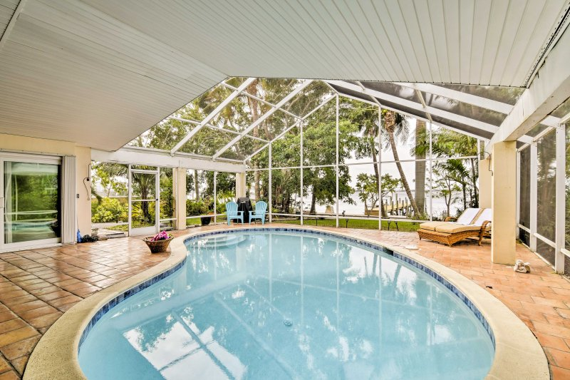 Adventure to colorful Cape Coral at this vacation rental home on the coast!