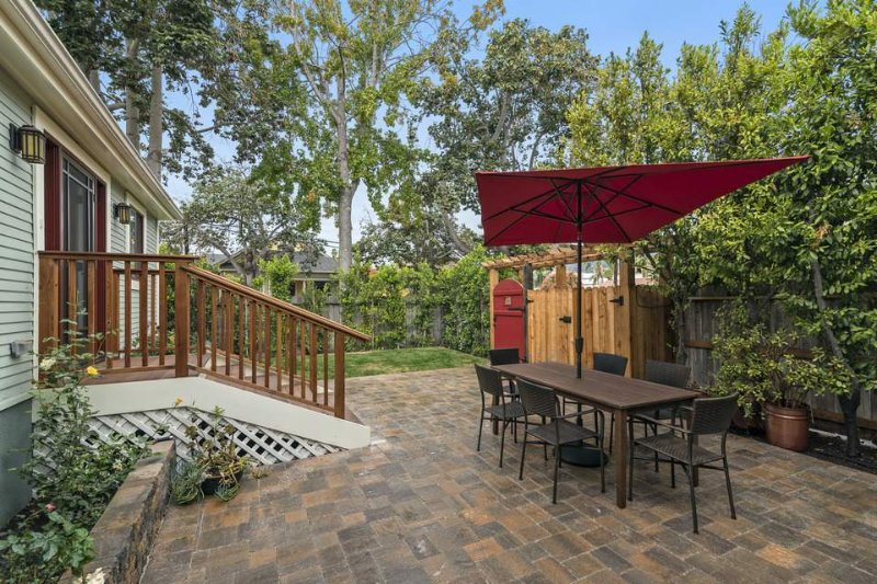 Enjoy the privacy of your fully-fenced yard.