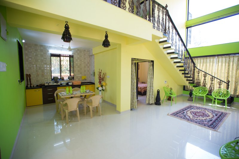 Amaltas is a newly built bungalow with Laburnum Themed Hues. Home away form home, holiday rental in Bhor