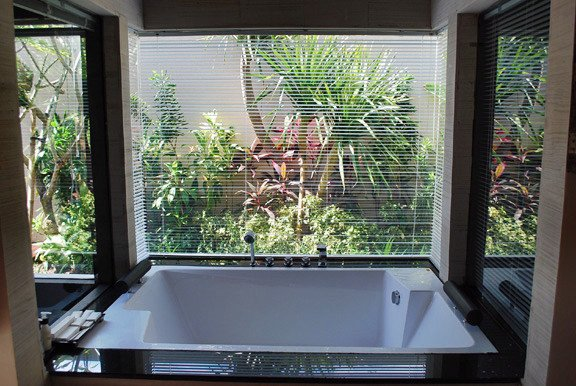 Your view from your 2-person bath