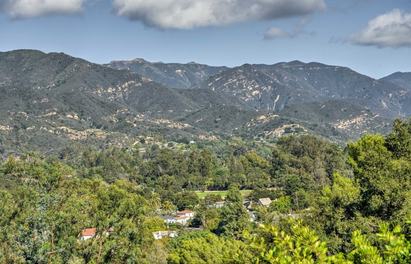 Secluded above the city, you'll have unparalleled views of the lush California landscape!